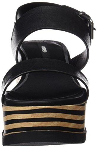 MTNG Collection Lapucas, Sandalias con Plataforma para Mujer Negro (Vaqueta Negro)
