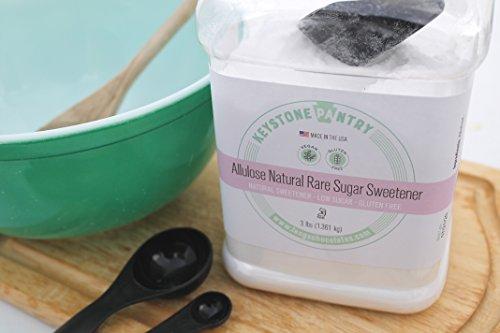 Keystone Pantry Non-GMO Allulose Natural Rare Sugar Sweetener 2 pack of 3-Lb Jars by KEYSTONE PANTRY (Image #1)