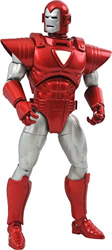 DIAMOND SELECT TOYS Marvel Select: Silver Centurion Iron Man Action Figure, Multicolor
