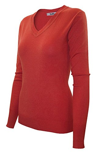 Silk Stretch Mock Neck Sweater - 2LUV Women's Long Sleeve V Neck Pullover Sweater With Rib Cuffs and Hem Coral XL