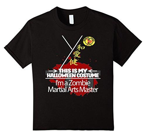 Kids Zombie Martial Arts Master Halloween Costume T-shirt 4 (Simple Art Ideas For Halloween)