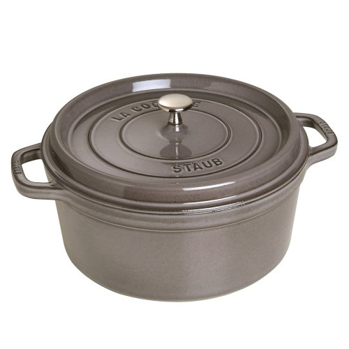 Staub 1102218 Round Cocotte Oven, 2.75 quart, Graphite Grey