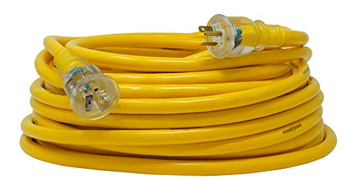 Yellow Jacket 2992 20-Amp Generator Cord with T-Blade 5-20 Lighted Ends, 100-Feet