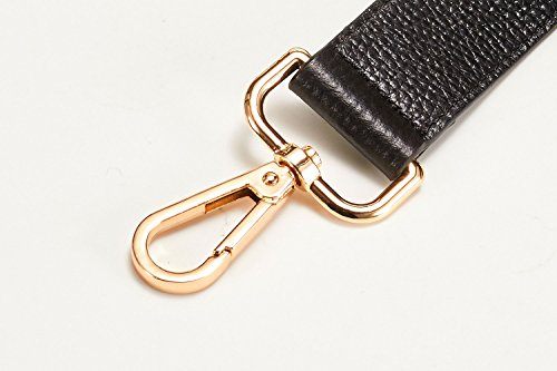 25 Inch Full Grain Universal Wide Leather Replacement Shoulder Strap, Brass Tone (Gold Tone) Metal Buckles, 1.18″x24.8″(WxL)