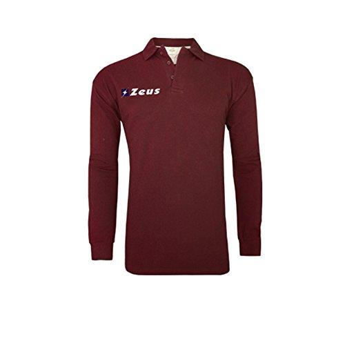 Zeus Herren Polo Shirt Training Fußball Fitness Sport POLO BASIC M/L GRENADE (M)