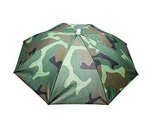 Adult Novelty Cap - Camouflage shade to protect your head for fishing beach golf party for adults & kids Umbrella Hat