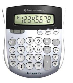 TI 1795SV Solar Power Calculator 1795SVFBL2L1B Pack Of 12 by TALLYGENICOM