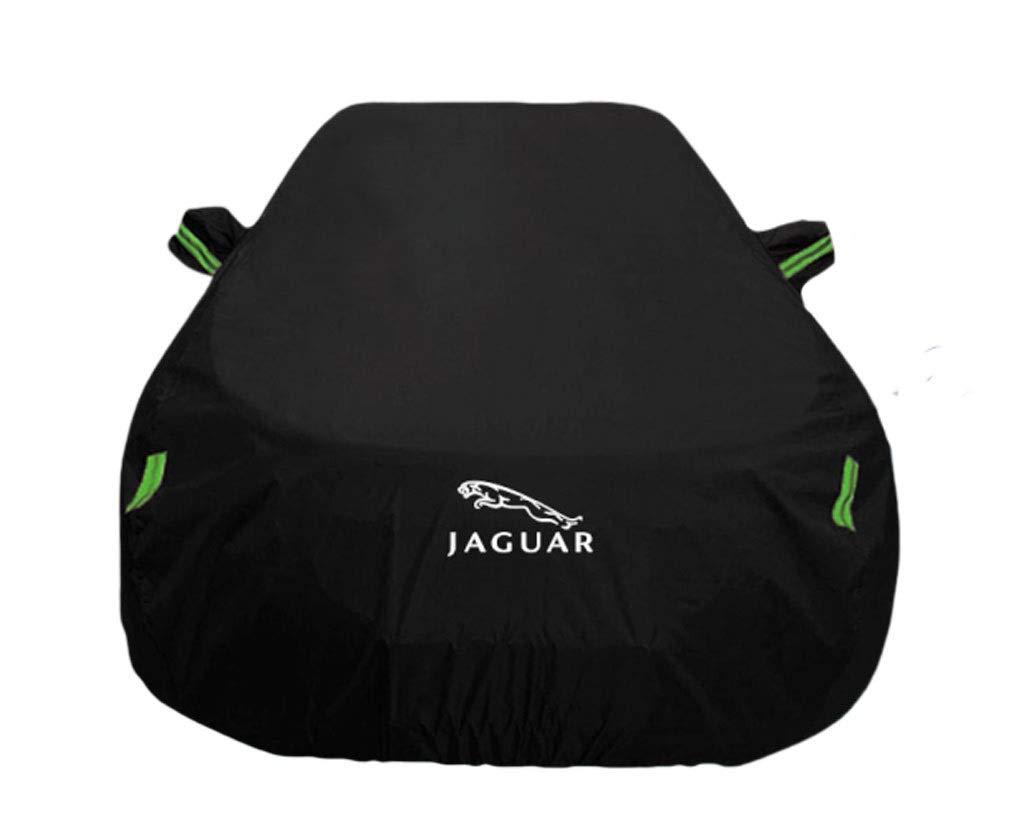 XUEYING-Car Cover Convient à la Couverture de Voiture Jaguar Jaguar XE XF XJ XK XLE Protection Contre Le Soleil Anti-Pluie épaississante Isolation Jaguar spécial Housse (Color : Black, Size : XE)