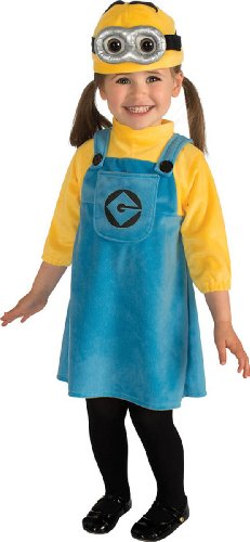 Rubie's Despicable Me 2 Female Minion Costume, Blue/Yellow, (Minion Halloween Costume For Girls)