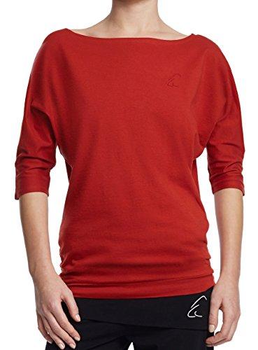 Esparto Sadaa Camiseta de manga media, de algodón orgánico - rojo atardecer
