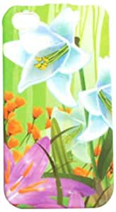 Cell Armor Snap-On Case for iPhone 4/4S - Retail Packaging - Two White Lilies