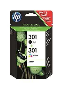HP 301 - Juego de 2 cartuchos de tinta, color negro y tricolor