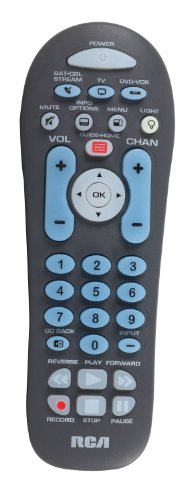 RCA RCR314WZ 3-Device Big Button Dual Navigation Remote with Backlit Keybad (Rca Remote Control)