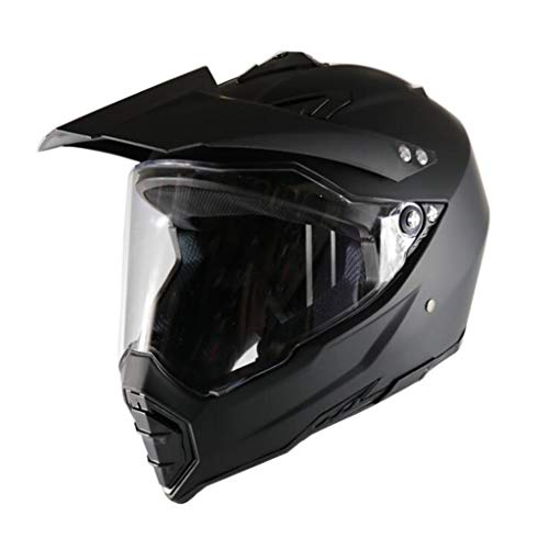 YD-SHOP Casco para Motocicleta - Casco de Cross-Road de Motos Casco de Carretera/Negro (MD-01030 /& (Tamaño : S)