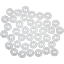 50 Clear Round Vending Machine Capsules, Empty Cases for Gumball Containers, Toy Stands, Mini Bath Bombs Container Molds or Hidden Surprise Treasure Inserts and Party Favors