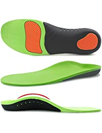 Ailaka Orthotic Cushion Arch Support Shoe Insoles, Shock Absorption Gel Sports Inserts for Flat Feet, Plantar Fasciitis