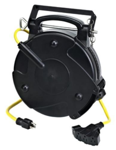 Amazon.com: Pro 65 Foot 12/3 Quad Tap Industrial Retractable Heavy Duty Extension  Cord Reel 8665TFQ: Home Improvement