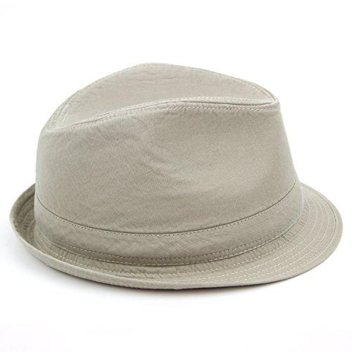 Chapeau trilby coton, denim délavé effet pierre beige Hawkins jean