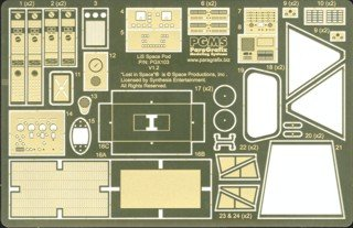 Lost in Space Space Pod Model Kit Photoetch and Decal set