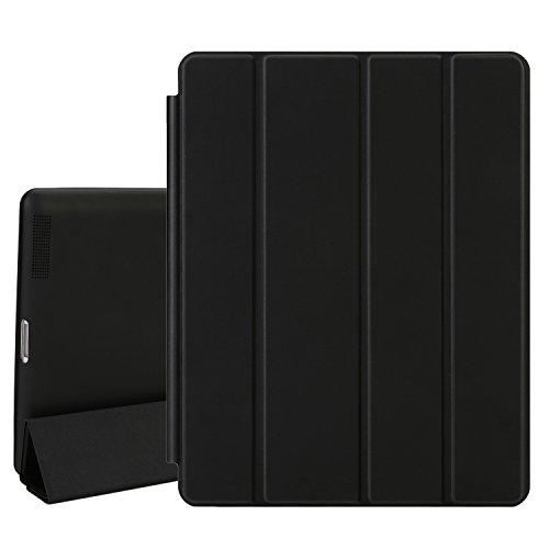 TKOOFN PU Leather Case Cover Stand For Apple iPad Mini Black - 1