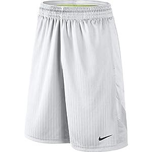 NIKE Men's Layup 2 Shorts, White/White/White/Black, Large