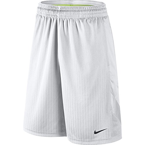 NIKE Men's Layup 2 Shorts, White/White/White/Black, X-Large