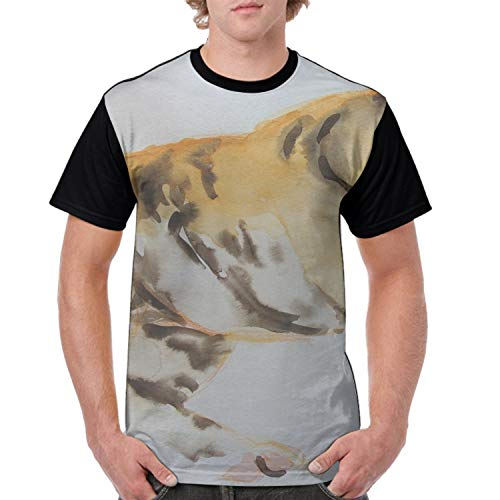 Simple Little Tiger Casual 3D Printed T-Shirts Short Sleeve Tops -