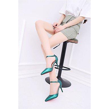Vino Pu 5 Scuro Da Desy Dark 9 Estate 7 poliuretano 5 Stiletto A Green Beige Cm Formale Verde Donna Decolleté Nero Tacchi qgww6X7Sf