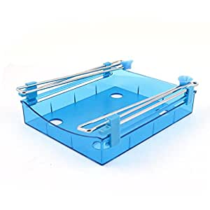 uxcell Plastic kitchen Refrigerator Freezer Inset Design Bin Tray Clear Blue