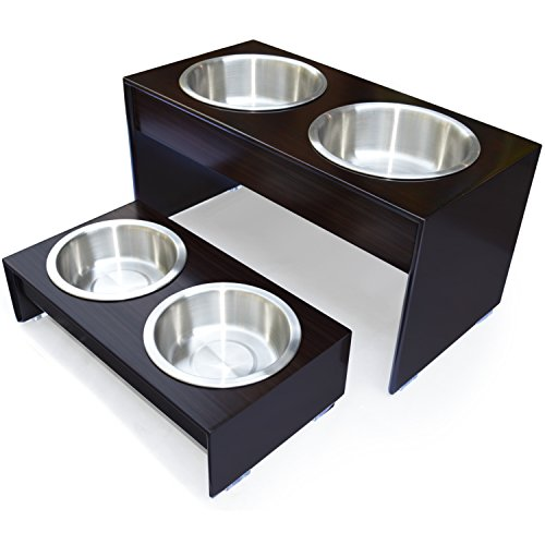 PetFusion Elevated Bamboo Dog Feeder (Tall 10
