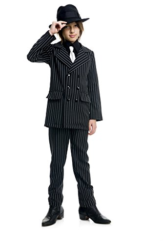 (Charades Gangster Suit Children's Costume,)