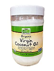 NOW Foods Organic Virgin Coconut Oil,20-Ounce (Pack of 3)