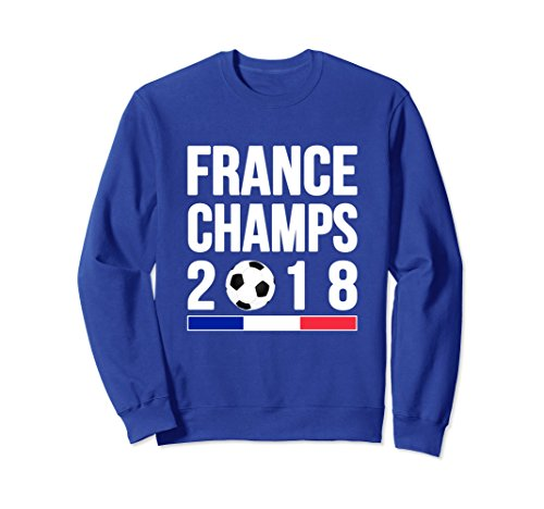 Champ Jersey Sweatshirt - Unisex France Champs 2018 T-shirt Soccer Football Fan Jersey 2XL Royal Blue