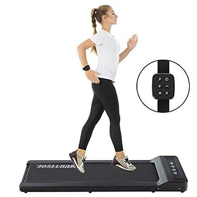 Murtisol Ultra Thin Under Desk Treadmill Flat Treadmill for Home & Office