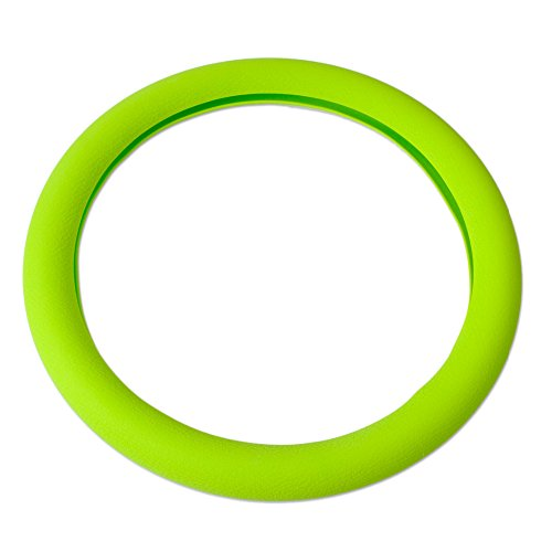 Soft Silicone Steering Wheel Cover Shell Skidproof Odorless Eco Friendly (green)