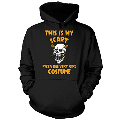 This Is My Scary Pizza Delivery Girl Costume Halloween Gift - Hoodie Black (Pizza Delivery Boy Halloween Costume)