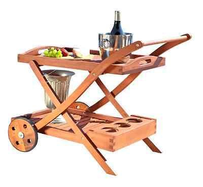 Generic NV_1008003932_YC-US2 <8&39321> le Tray Wood Indoo Wood Indoor Outdoor Serving Rolling Bar Table Cart With Wheels Removable Tray Outdoor Ser (Removable With Tray Cart Bar)