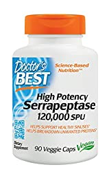 Doctor\'s Best High Potency Serrapeptase (120,000 Units), 90-Count