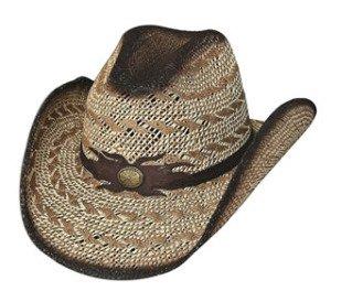Bullhide Montecarlo Desert Gold Toyo Straw Western Hat w Contrast Striping xLarge from Bullhide Hat Co