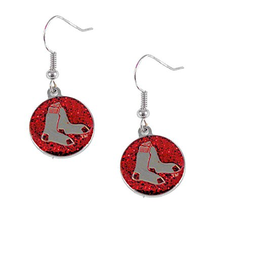 - MLB Boston Red Sox Glitter Dangler Earrings
