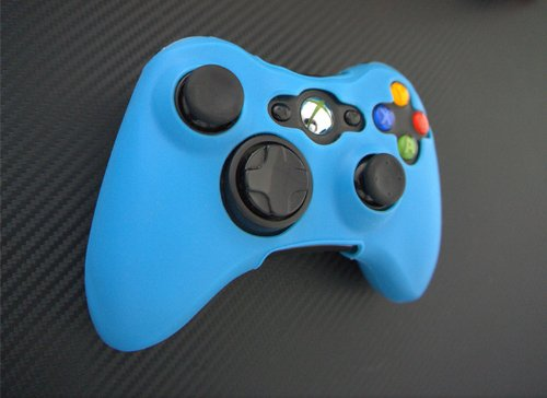 One Piece 1x Brand New Xbox 360 Remote Controller Silicon Protective Skin Case Cover -Glow Blue Color