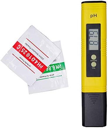 Medidor de PH port/átil Multifuncional EC Medidor de Temperatura Conductividad de Pluma Herramientas de medici/ón de Calidad del Agua Probador de PH Amarillo