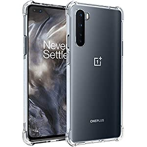 TheGiftKart Transparent Crystal Clear Shockproof TPU Back Cover Case for OnePlus Nord (Transparent)