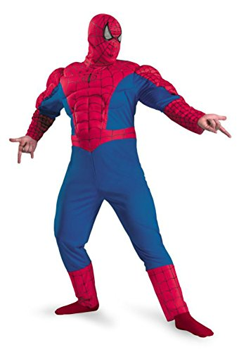 Disguise Mens Spiderman Muscle Chest Classic Superhero Theme Party Costume, X-Large (50-52)