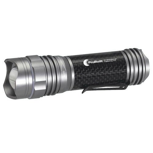 ProBuilt CF001 4.5 in. Handheld Carbon Fiber High-Output LED Flashlight (Bare - Carbon Fiber Flashlight