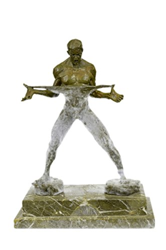 Handmade European Bronze Sculpture Abstract Muscle Man Flexing Nude Male Fitness Model Muscular Bronze Statue -JPXN-2571-Decor Collectible Gift