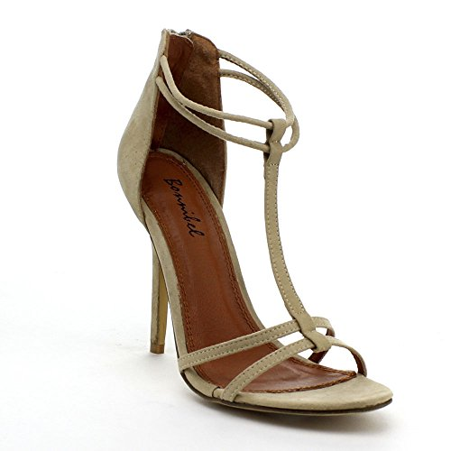 Womens Strap Beige Sandals Zipper Back Strap Rosita Dress Stiletto Ankle 2 Bonnibel T Ef8wq
