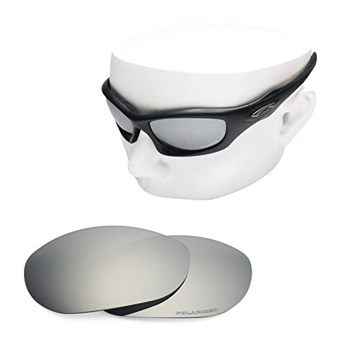 OOWLIT Replacement Sunglass Lenses for Oakley Monster Dog Silver Mirror Polarized (Polarized Dog Monster)
