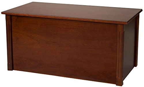 (Large Cherry Wooden Toy Box and Blanket Chest - All Wood - Optional Cedar Base (StandardBase))