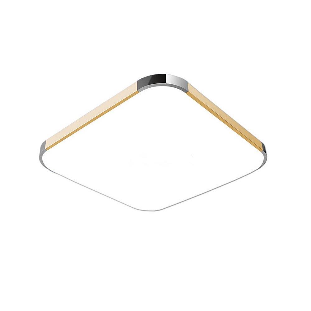 SAILUN 36W Kaltweiss LED Modern Deckenleuchte Deckenlampe Flur Wohnzimmer Lampe Schlafzimmer Kche Energie Sparen Licht Golden Amazonde Beleuchtung